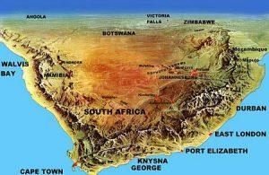S Africa topomap