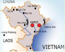 Northern Vietnam Map.World Of Travel By Bill And Priscilla North Vietnam The End Of
